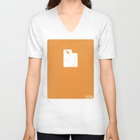 utah V-neck T-shirts featuring Utah Minimalist Vintage Map by Finlay McNevin