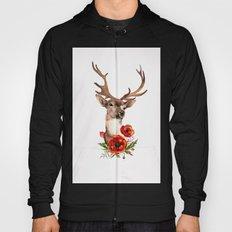 Deer with flowers 2 Hoody