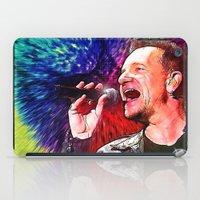 u2 iPad Cases featuring U2 / Bono 3 by JR van Kampen