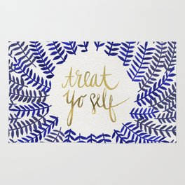 Treat Yo Self – Gold & Navy Rug