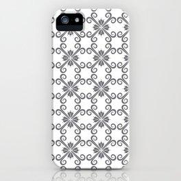 Grey Swirl Pattern iPhone Case