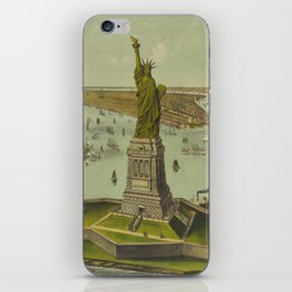 Currier & Ives. - Print c.1885 - Statue of Liberty 2 iPhone Skin
