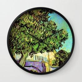Vincent van Gogh : Blossoming Chestnut Tree 1887 Wall Clock