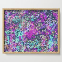 Magenta Flowers Serving Tray