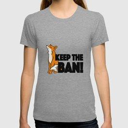 Keep the Ban! Anti Fox Hunting Illustration T-shirt