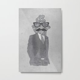 The Gentlemanly Squiggle Metal Print