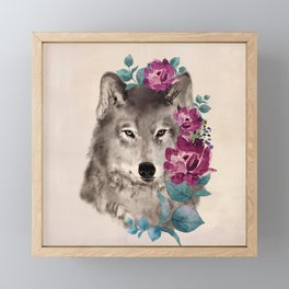 Gently Ferocious Framed Mini Art Print