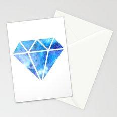 Blue Nebula Diamond Stationery Cards