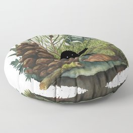 Tiny Sasquatch Floor Pillow