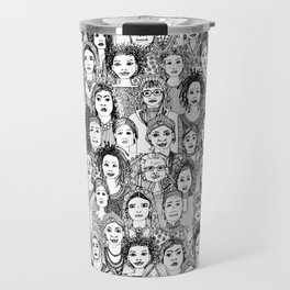 WOMEN OF THE WORLD BW Travel Mug