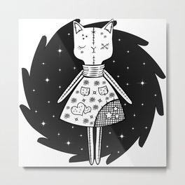 Halloween Story - Voodoo Cat Doll Metal Print