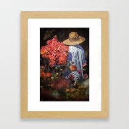 Picking the Flowers Framed Art Print