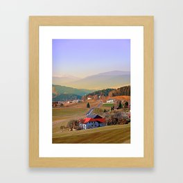 Country road in amazing panorama | landscape photography Framed Art Print