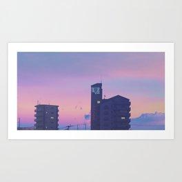 SEELE Over Hiroshima Art Print