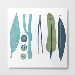 Sticks and Stones Illustration Metal Print