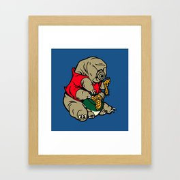 Water Pooh Bear (Tardigrade) Framed Art Print