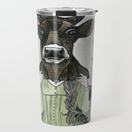 Cow Mask Travel Mug