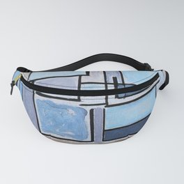 Piet Mondrian - Composition no 9 Blue Facade - Abstract Painting Fanny Pack