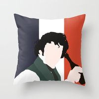 grantaire Throw Pillows featuring GRANTAIRE – LES MISÉRABLES by K. Frank