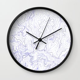 Secret places I - handmade blue map Wall Clock