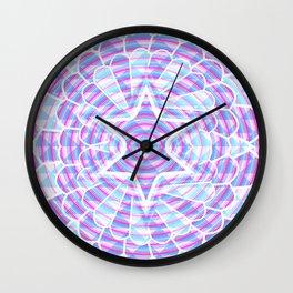 Blue trance Wall Clock