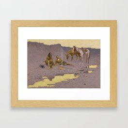Frederic Remington - A New Year on the Cimarron Framed Art Print