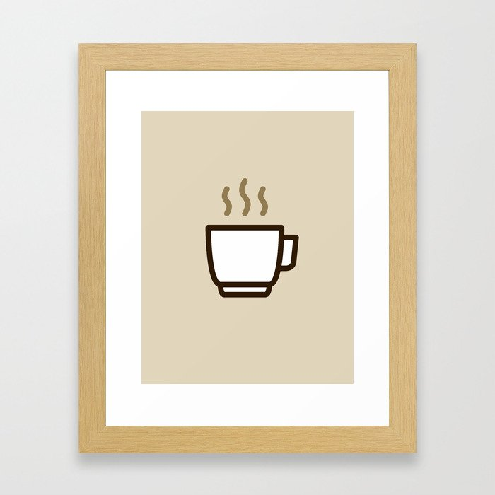 Coffee - Icon Prints: Drinks Series Framed Art Print