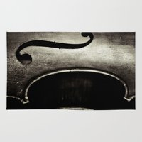 cello Area & Throw Rugs featuring Still Life: Cello by Kadwell Enz