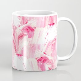 Artsy Girly Pink Coral Abstract Floral Painting Coffee Mug
