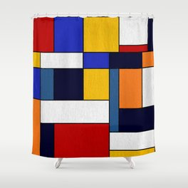 Abstract #351 Shower Curtain