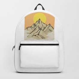 Sunset and mountains Backpack