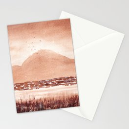 Monochromatic Landscape Painting Stationery Cards