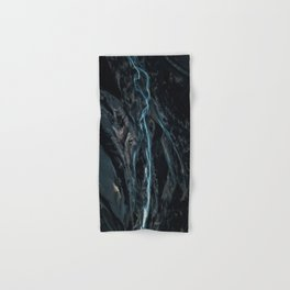 Abstract River in Iceland - Landscape Photography Hand & Bath Towel