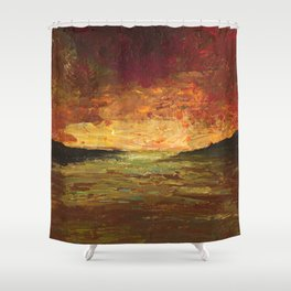 Sunset Experiment Shower Curtain