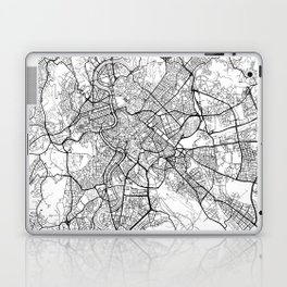 Rome Map White Laptop & iPad Skin