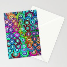 Multicolor Dots Pyramid Stationery Cards
