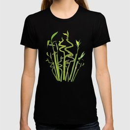 Scattered Bamboos on Beige T-shirt