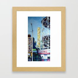 Heading to the Cyclone Framed Art Print