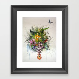 Music and Nature Framed Art Print