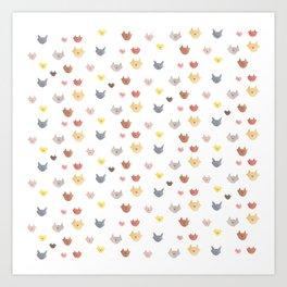Cat Family (Smaller Cats) Art Print