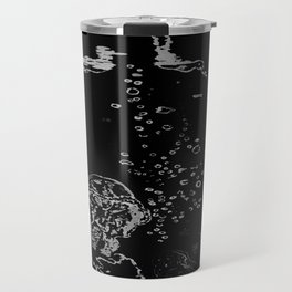 Two Tailed Duck and Jellyfish Black and Dark Deep Sea Travel Mug