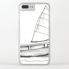 Sailboat, pen and ink Clear iPhone Case