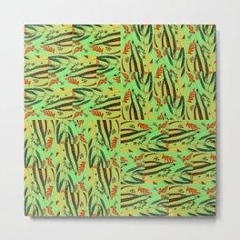 Eucalyptus Glow Metal Print