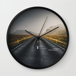 Foggy Road Wall Clock