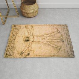 Vitruvian Man by Leonardo da Vinci Rug