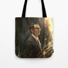 The Abyss Gazes Back Tote Bag