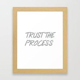 Trust The Process Workout Motivational Design Framed Art Print