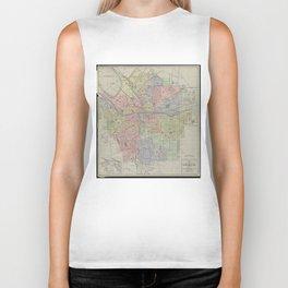 Vintage Map of Syracuse New York (1920) Biker Tank