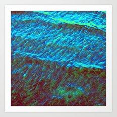 Waves Green-Blue DPG160608d Art Print