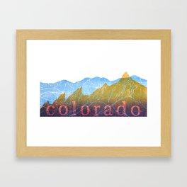 Colorado Mountain Ranges_Boulder Flat Irons + Continental Divide Framed Art Print